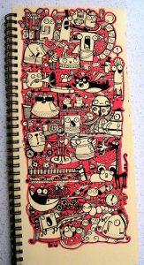"""tranh ve nguech ngoac nghe thuat doodle art la gi122 163x300 - Vẽ """"nguệch ngoạc"""" Doodle Art là gì?"""