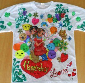 vẽ áo 3 300x291 - Bút vẽ áo giặt không phai Artline T-shirt marker