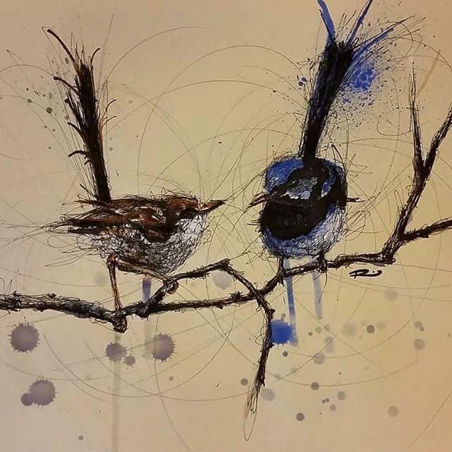 10249255 818966378200886 960509321 n - Cảm hứng Artline #15: Bộ tranh vẽ chim chóc bằng bút lông dầu