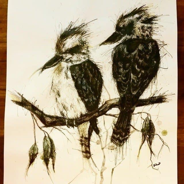 10809681 1511948672416609 837729240 n - Cảm hứng Artline #15: Bộ tranh vẽ chim chóc bằng bút lông dầu