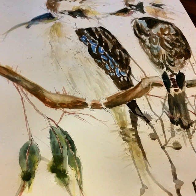 10809992 306274179582691 318624537 n - Cảm hứng Artline #15: Bộ tranh vẽ chim chóc bằng bút lông dầu