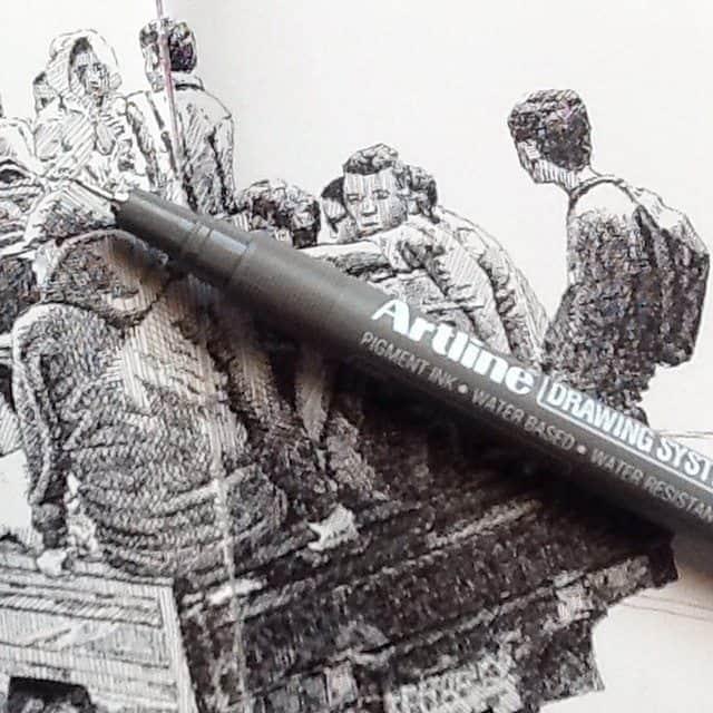 10963894 623076787823565 1474929559 n - Cảm hứng Artline #18: Những bức ký họa đẹp bằng bút kỹ thuật