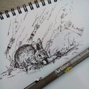 11015608 1803529343204991 686970453 n 300x300 - Cảm hứng Artline #9: Những minh họa nhỏ nhắn xinh xắn bằng bút kỹ thuật Artline