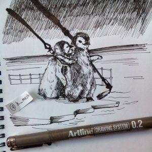 11033043 419536754880117 2080552074 n 300x300 - Cảm hứng Artline #9: Những minh họa nhỏ nhắn xinh xắn bằng bút kỹ thuật Artline
