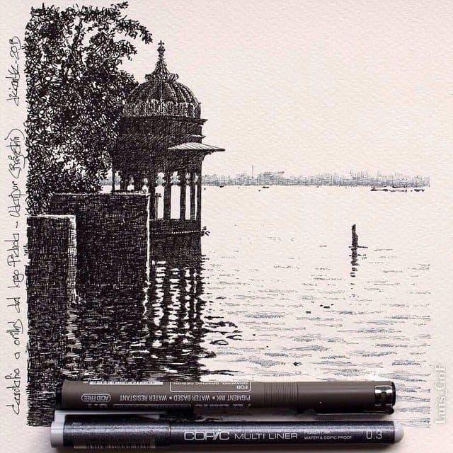 11324894 1648391388770546 1084802143 n - Cảm hứng Artline #18: Những bức ký họa đẹp bằng bút kỹ thuật