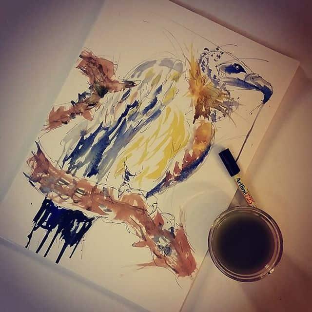 11881602 902702296464854 1122658140 n - Cảm hứng Artline #15: Bộ tranh vẽ chim chóc bằng bút lông dầu