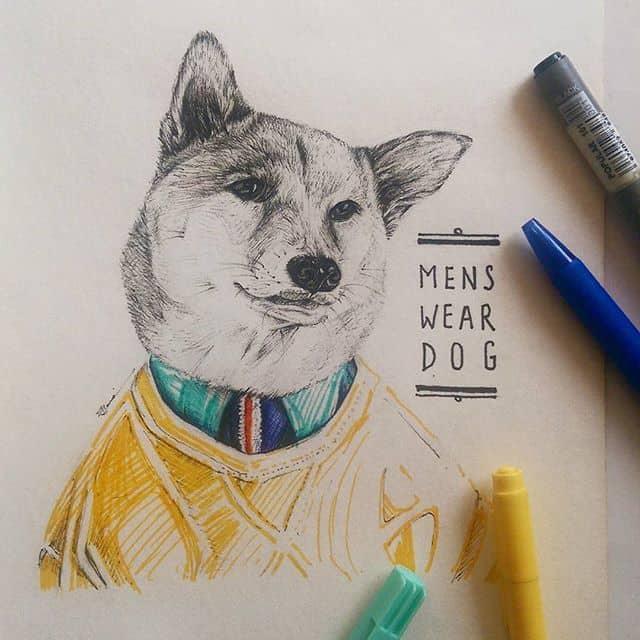 12479139 1678052125782319 1075724523 n - Vẽ ký họa cún cưng bằng bút kỹ thuật Artline