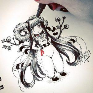 16789384 892236687546604 4984298285603749888 n 300x300 - Hướng dẫn vẽ Chibi Kim ngưu theo phong cách Nhật Bản