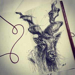 18888762 347103212373005 3756200641270120448 n 300x300 - Cảm hứng Artline #13: Bộ tranh động vật đầy ấn tượng bằng bút kỹ thuật Artline