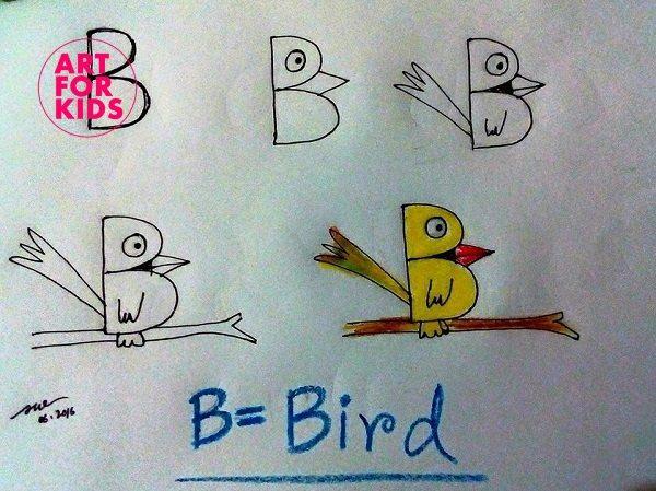 2 1 - Cách vẽ tranh từ chữ cái cực dễ