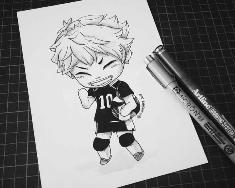 21077311 2061326380762490 2117525502875119654 n - Cảm hứng Artline #23: Bộ tranh chibi dễ thương về các nhân vật trong anime Vua bóng chuyền Haikyuu