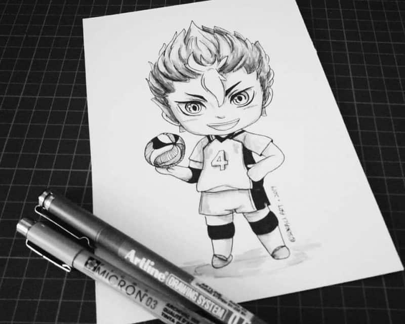 21078516 2062177677344027 5995283861974835821 n - Cảm hứng Artline #23: Bộ tranh chibi dễ thương về các nhân vật trong anime Vua bóng chuyền Haikyuu