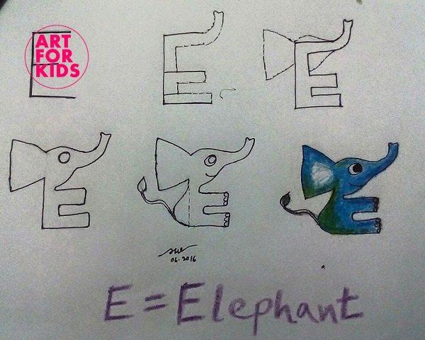 5 - Cách vẽ tranh từ chữ cái cực dễ