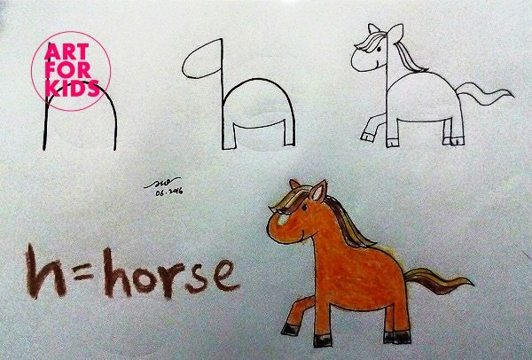 8 - Cách vẽ tranh từ chữ cái cực dễ