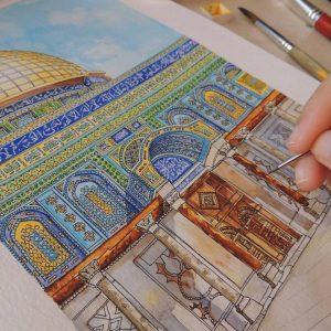 Eid mubarak to all Muslims 300x300 - Cảm hứng Artline #5: Vẽ ký họa kiến trúc với bút kỹ thuật Artline