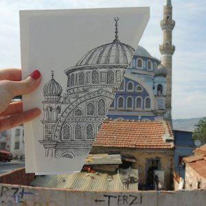 Fatih Mosque Izmir Turkey 300x300 - Cảm hứng Artline #5: Vẽ ký họa kiến trúc với bút kỹ thuật Artline