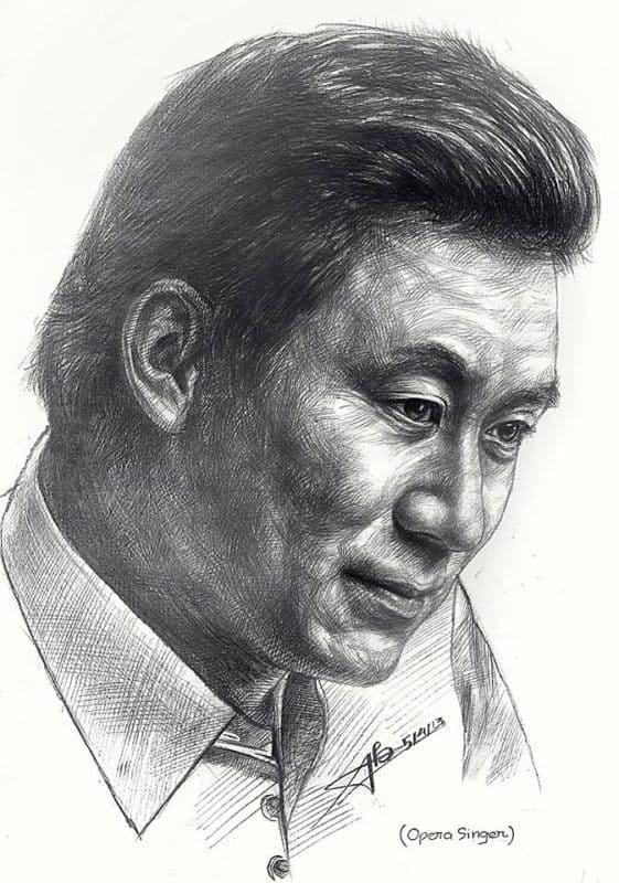 """NSƯT Tạ Minh Tâm là thần tượng của Bảo trong lĩnh vực âm nhạc - Phá cách vẽ chân dung theo phong cách """"one-stroke"""""""