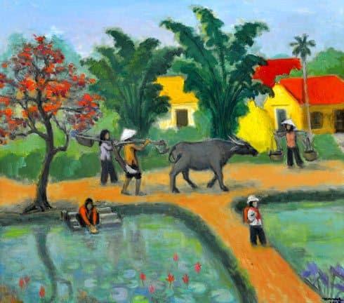 Vẽ tranh phong cảnh bằng màu sáp - Tranh vẽ bằng sáp dầu đẹp