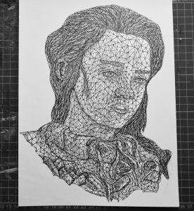 arya stark triangulation by eliasmadan d8rpnn7 276x300 - Cảm hứng Artline #7: Bộ tranh vẽ chân dung nhân vật điện ảnh theo phong cách độc đáo