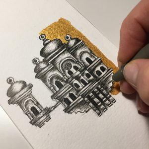 ayla acet birdhouse 300x300 - Cảm hứng Artline #1: Bộ tranh minh chứng cho sự kết hợp hoàn hảo giữa bút đi nét Artline và mực màu dạ quang