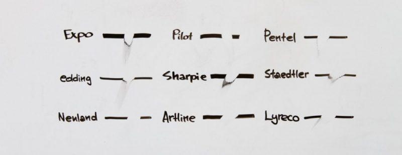 bút viết bảng dễ lau - So sánh bút viết bảng của các hãng nổi tiếng trên thế giới