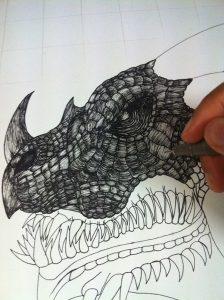 cdcbe717472797.562ba71158eb5 224x300 - Hướng dẫn vẽ con rồng bằng bút kỹ thuật Artline
