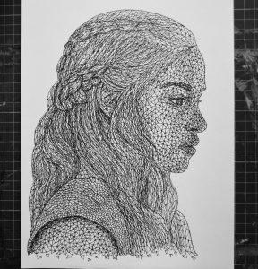 daenerys targaryen triangulation by eliasmadan d8hsl62 288x300 - Cảm hứng Artline #7: Bộ tranh vẽ chân dung nhân vật điện ảnh theo phong cách độc đáo