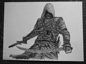edward kenway  assassins creed  by eliasmadan d86y1q5 300x223 - Cảm hứng Artline #7: Bộ tranh vẽ chân dung nhân vật điện ảnh theo phong cách độc đáo