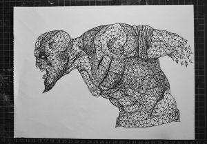 kratos triangulation  god of war  by eliasmadan d88n811 300x209 - Cảm hứng Artline #7: Bộ tranh vẽ chân dung nhân vật điện ảnh theo phong cách độc đáo