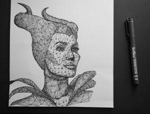 maleficent triangulation by eliasmadan d7y0g2t 300x229 - Cảm hứng Artline #7: Bộ tranh vẽ chân dung nhân vật điện ảnh theo phong cách độc đáo