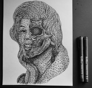 marilyn monroe triangulation by eliasmadan d825gp4 300x286 - Cảm hứng Artline #7: Bộ tranh vẽ chân dung nhân vật điện ảnh theo phong cách độc đáo