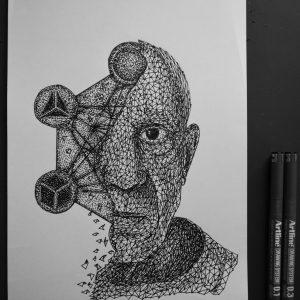 pablo picasso triangulation by eliasmadan d85d0op 300x300 - Cảm hứng Artline #7: Bộ tranh vẽ chân dung nhân vật điện ảnh theo phong cách độc đáo