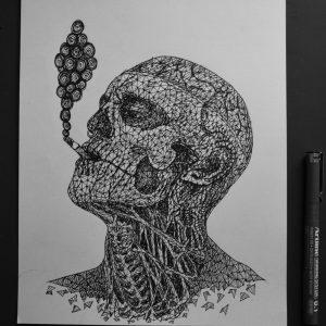 rick genest  zombieboy  triangulation by eliasmadan d83u8tt 300x300 - Cảm hứng Artline #7: Bộ tranh vẽ chân dung nhân vật điện ảnh theo phong cách độc đáo