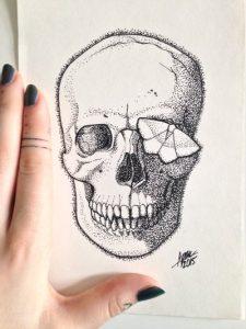 vanitas by nihilazari d90klo8 225x300 - Cảm hứng Artline #6: Vẽ phong cách tatoo Dotwork với bút kỹ thuật Artline