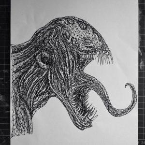 venom triangulation by eliasmadan d8ahkn0 300x300 - Cảm hứng Artline #7: Bộ tranh vẽ chân dung nhân vật điện ảnh theo phong cách độc đáo