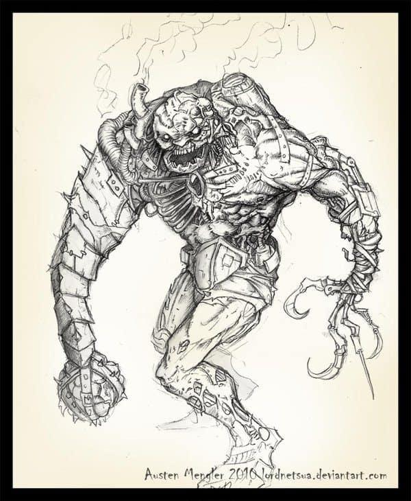 android andrew by lordnetsua - Cảm hứng Artline #29: Tạo hình quái vật thần sầu bằng bút vẽ Artline