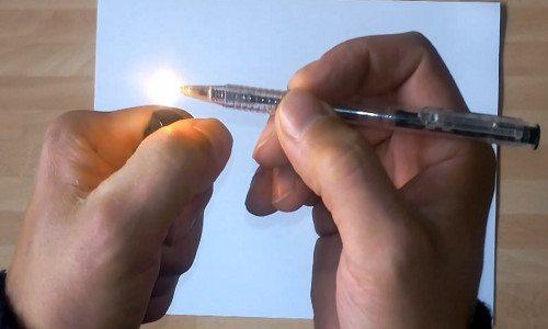 bút bi tắt mực