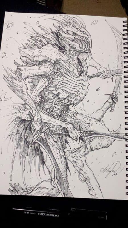 cysect   inks by austenmengler d7r3gg2 - Cảm hứng Artline #29: Tạo hình quái vật thần sầu bằng bút vẽ Artline
