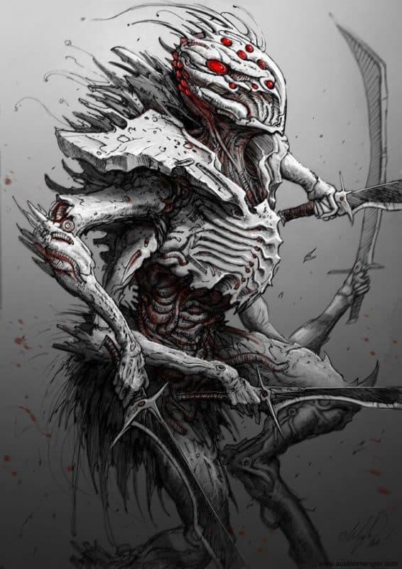 cysect by lordnetsua d8jfpa8 - Cảm hứng Artline #29: Tạo hình quái vật thần sầu bằng bút vẽ Artline
