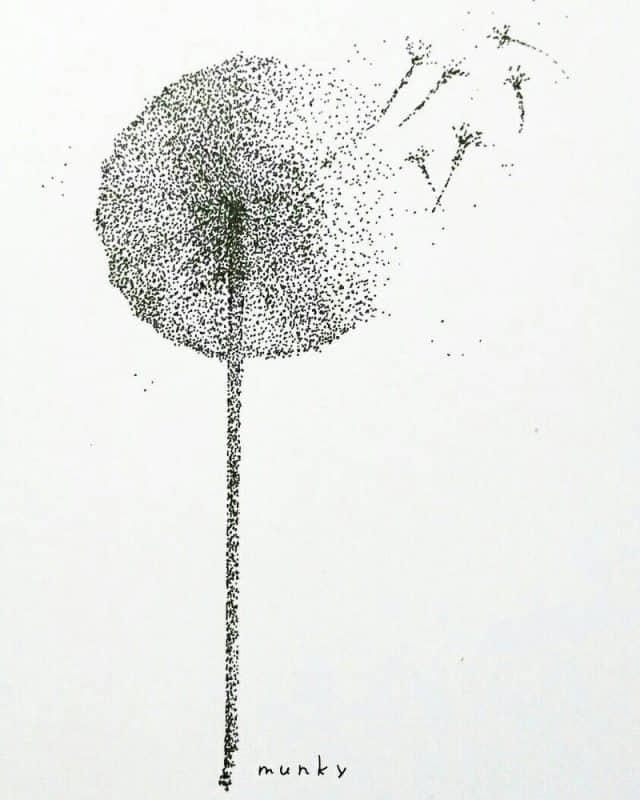 dandelion by munky16 danbx25 - Cùng bút vẽ Artline thực hiện cảm hứng vẽ vời trong cuộc sống hằng ngày của bạn