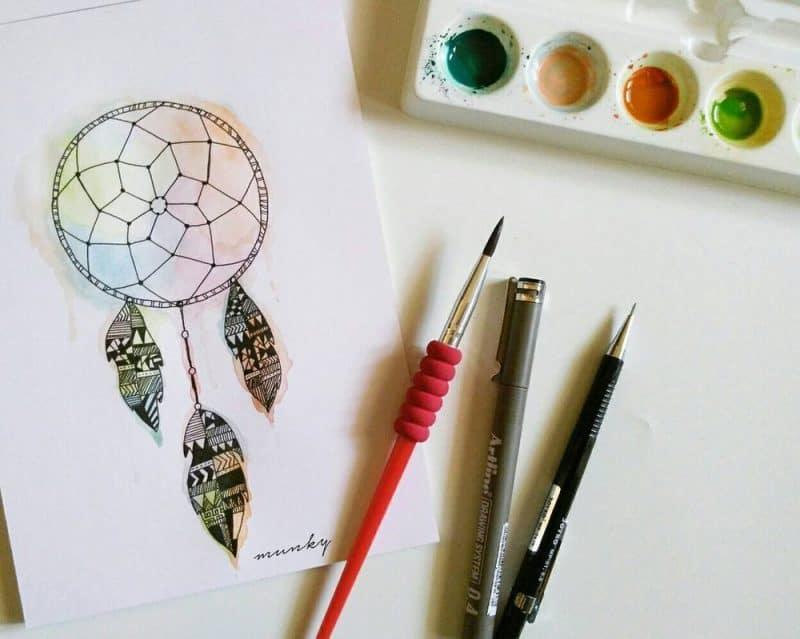dreamcatcher by munky16 dahwiqk - Cùng bút vẽ Artline thực hiện cảm hứng vẽ vời trong cuộc sống hằng ngày của bạn
