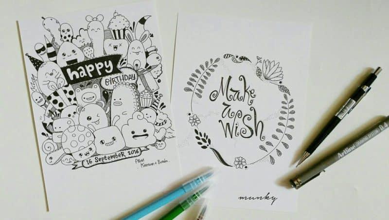 happy birthday  by munky16 dahwiw3 - Cùng bút vẽ Artline thực hiện cảm hứng vẽ vời trong cuộc sống hằng ngày của bạn