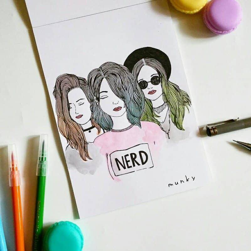 hippie  by munky16 dai04jj - Cùng bút vẽ Artline thực hiện cảm hứng vẽ vời trong cuộc sống hằng ngày của bạn