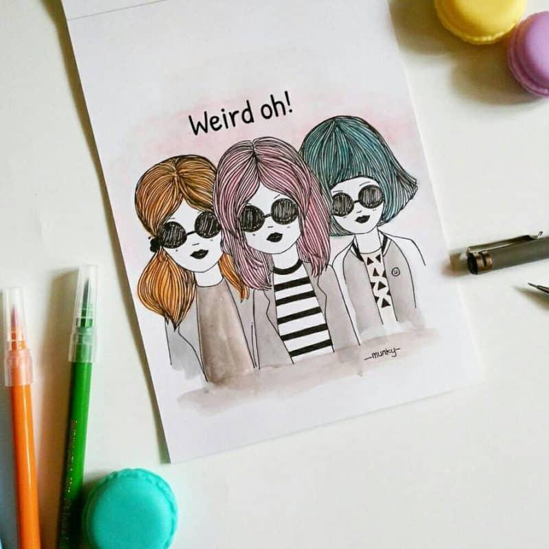 weird oh  by munky16 dai04gf - Cùng bút vẽ Artline thực hiện cảm hứng vẽ vời trong cuộc sống hằng ngày của bạn