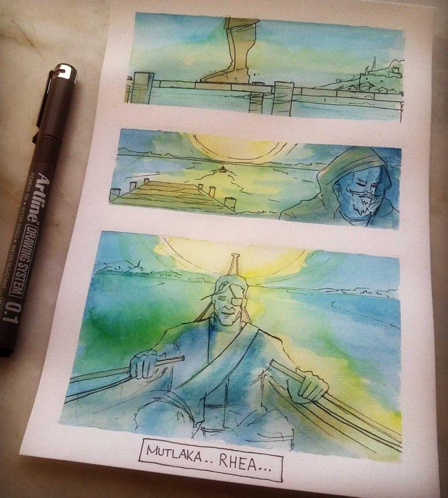 Bir Eski İstanbul Resimli Roman Projesi artline drawing system 7