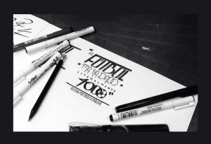 but artline calligraphy 5