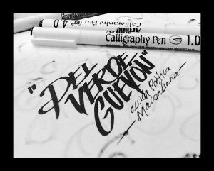 but artline calligraphy 8